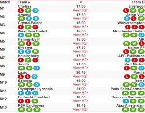 soccer 13 fixtures